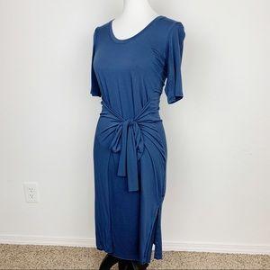 Athleta Blue Midi Wrap Dress Size XS